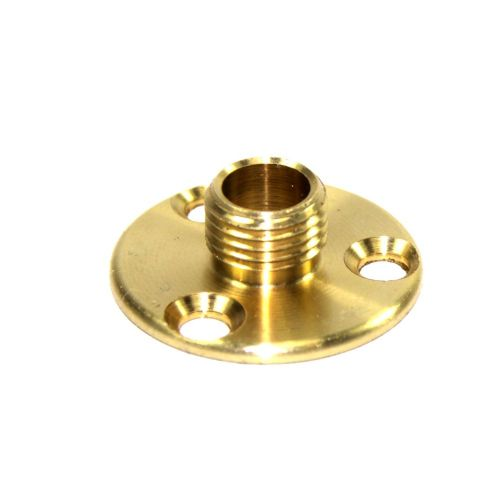 M10 x 1mm Pitch Solid Brass Lampholder Mounting or Fixing Plate